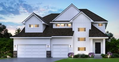 Classic Elevation. 3,074sf New Home in Lake Elmo, MN