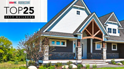 Creative Homes Named in Top 25 Builders for 2017