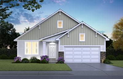 Cottage Elevation. 2,739sf New Home in Hastings, MN